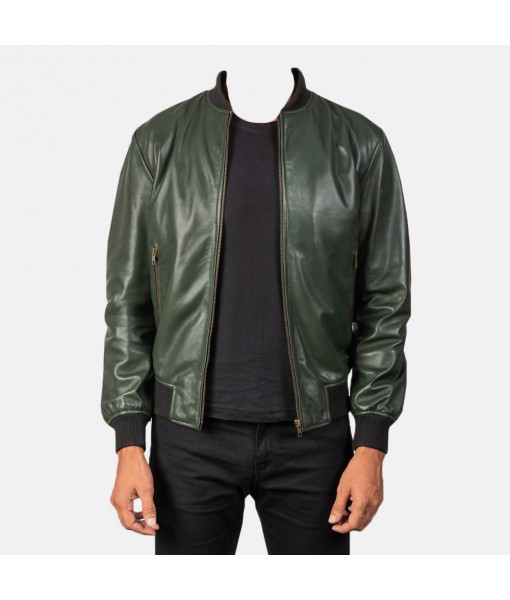 Shane Green Leather Bomber Jacket