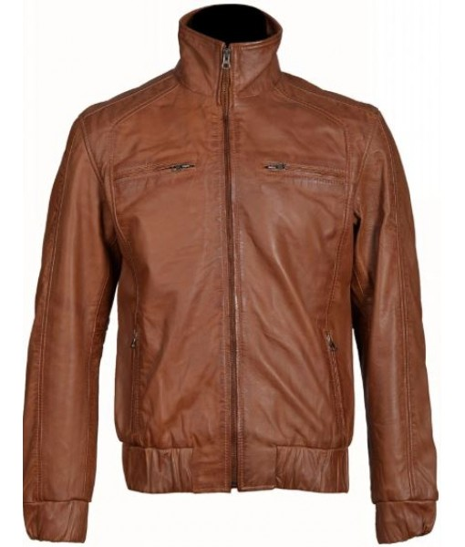 Beltrans brown leather ja...