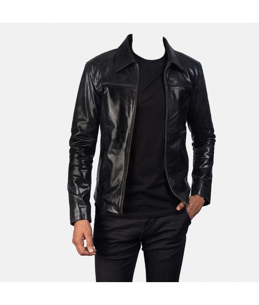 Mystical Black Leather Jacket