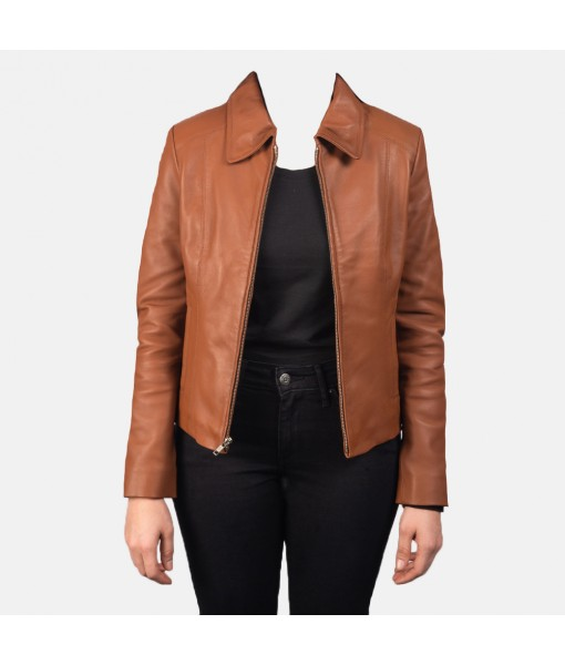 Colette Brown Leather Jacket