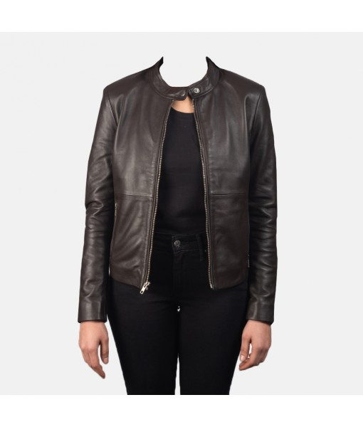 Rave Brown Leather Biker ...