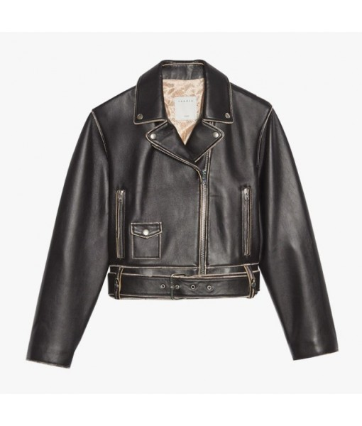 Sandro short biker jacket